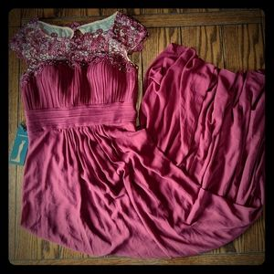 NWT Ever Pretty Long Burgundy Formal Gown 8